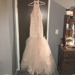 Pearl pink prom dress